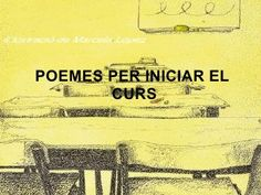 Poemes per iniciar el curs Lectures, Poems, Language, College, Projects, Poetry For Kids, School, Verses, First Day