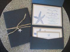 Beach Theme Destination Wedding Invitation by PurpleandPlatinum, $5.50
