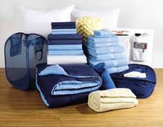 The Complete Campus Collection from RHL. Absolutely everything you need in terms of linen for a college dorm room, for $229.