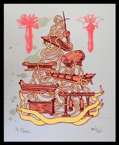 Alat musik Gamelan menerima pengakuan dunia saat diajarkan dalam kurikulum di New Zealand pada tahun 1975. Pemberitaan mengenai alat musik ini membuat terciptanya kesepakatan antara pemerintah. Prihatmoko mengambil instrumen musik dari Barat dan Indonesia, mengikat keseluruhannya menjadi satu. Jaring-jaring yang terbentuk ini mengikat alat-alat musik melambangkan kebudayaan baru serta pertumbuhan daya tarik budaya Indonesia.