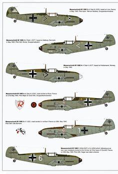 Messerschmitt Bf 109 E-3s and 4's