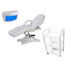 Стол за козметика и педикюр + Количка + UV стерилизатор