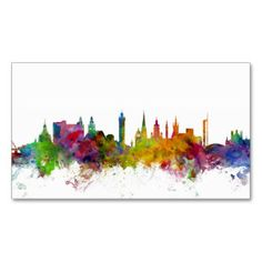 Glasgow business card printing 10 percent off special offer online 800 urban watercolour business cards and urban watercolour reheart Image collections