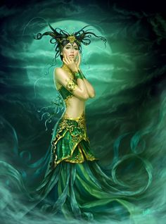 butterfli, fantasy artwork, fantasi, 3d character, emerald, sea, fairi, goddess, nymph