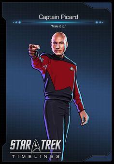 Captain Picard (Patrick Stewart) from Star Trek: The Next Generation