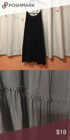 Black tiered dress Cute tiered dress. Lightly worn! Mossimo Supply Co Dresses