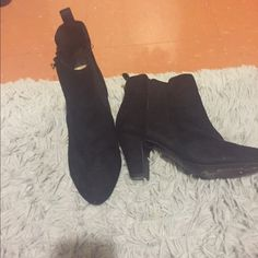 BCBG booties Worn a handful of times in good condition! Size 7.5 runs true BCBG Shoes