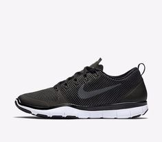Nike Free Train Versatility Mens Training Shoes 9.5 Black White 833258 001 #Nike #RunningCrossTraining