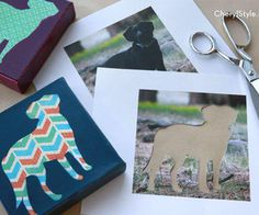 How To Make A DIY Pet Art Print On Canvas Using Your Pet's Photo