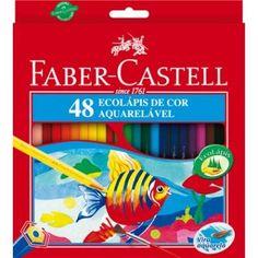 Lápis de Cor Aquarelável 48 Faber Castell - Aquarelável 48 Cores www.nipondigital.com R$ 85,00 (25/04/2015)