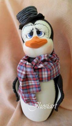 Pote Pinguim, frasco pinguino,penguin jar