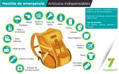 En caso de emergencia, esto debes tener en tu mochila | Medios Públicos del Ecuador