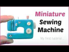Miniature doll Sewing Machine - Polymer clay Tutorial - dollhouse DIY - YouTube