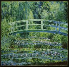 Claude Monet, French, 1840–1926 -- Water Lilies and Japanese Bridge, 1899 -- Oil on canvas -- 90.5 x 89.7 cm. (35 5/8 x 35 5/16 in.)