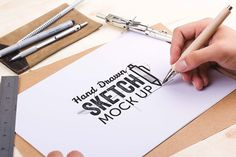 Hand Drawn Sketch Mock Up Pack - Product Mockups - 1