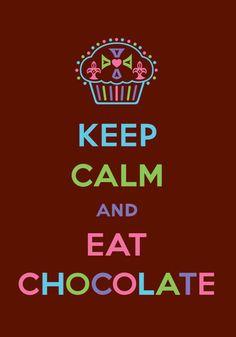 'Keep+Calm+and+Eat+Chocolate'+von+Andi+Bird+bei+artflakes.com+als+Poster+oder+Kunstdruck+$16.63