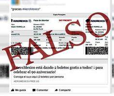 Aeroméxico vuelve a alertar sobre fraude con boletos gratis   home Inversion Turistica