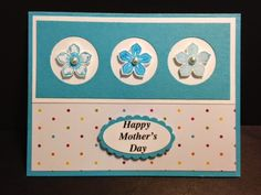 Petite Petals, Mother's Day card,  Stampin' Up!, Rubber Stamping, Handmade Cards