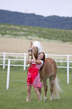 Fotoshooting mit Haflingerstute Gracia & Manuela Reidinger auf der GR-Ranch in Unterrohrbach, Österreich