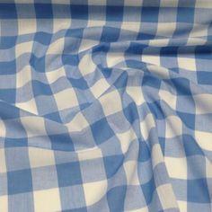 Polycotton-Fabric-1-034-Gingham-Check-Dress-Craft-Summer-School-Uniform