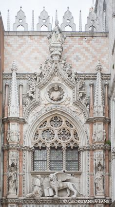 Pink isn't the first color I think of when I think of Venice, but this is lovely. Detail, Basilica San Marco, Venice, by Georgianna Lane*silva* Architecture Antique, Historical Architecture, Amazing Architecture, Art And Architecture, Toscana Italia, Places In Italy, Cathedral Church, Italy Travel, Italy Vacation