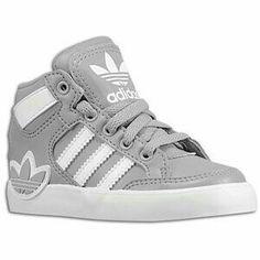 new concept 764f0 1748a adidas Originals Hard Court Hi - Boys  Toddler - Basketball - Shoes - Black Running  White Running White