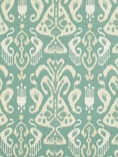 Ikat Modern Upholstery Fabric Yardage Aqua Ikat