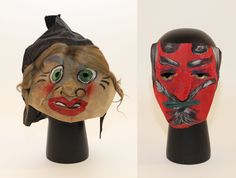 Masks from our Home and Community Life collections. Mean Friends, Halloween Gif, Holiday Activities, Hallows Eve, Vintage Advertisements, Trick Or Treat, Creepy, 1950s, Witch