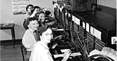 10 Jobs That No Longer Exist.  The switchboard used was much more elaborate, but this gives an idea what they were like.