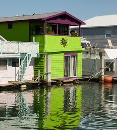 Key West Boat House, purple and green:) the kids are voting for the combo on the coop