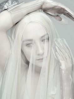 ☫ A Veiled Tale ☫ wedding, artistic and couture veil inspiration - Saoirse Ronan by Rankin