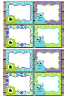 Monsters Inc. Mike thank you cards Monsters Inc Baby Shower, Yoshi, Thank You Cards, Graduation, Kids Rugs, Fictional Characters, Art, Monster Inc Party, September