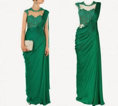 New-Look-Fashion-Saree-Gown-Latest-Style-Dress-for-Girls-by-Designer-Sonaakshi-Raaj-