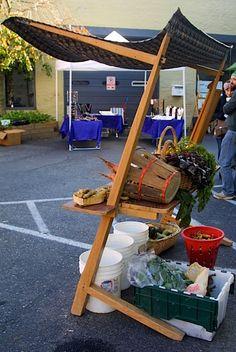 MAKE | Portable farmer's market stand