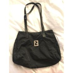 Authentic Fendi Bag. Fabric With Leather Straps.