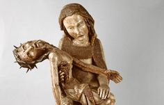 #62. Röttgen Pietá. Late medieval Europe. c. 1300-1325 CE. Painted wood. Khan Academy article