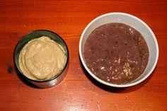 Homemade pudding and yogurt