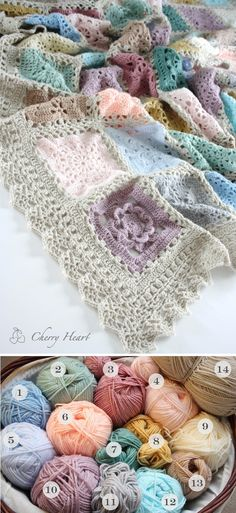 Color Inspiration :: Lacy Sampler, crocheted by Sandra Paul. Mostly Stylecraft Special DK, with some King Cole. All details on site page.