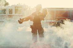 Fireman engagement shoot! #littlebigphotography