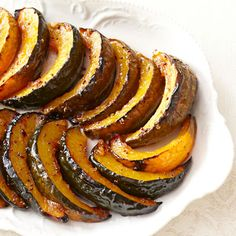 The combination of different spice notes from cinnamon and Dijon mustard in this savory-sweet squash dish will make it a staple at your table. #myplate #sidedishes #veggies