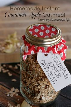 Homemade Instant Cinnamon Apple Oatmeal #instantoatmeal #homemade #cinnamonapple