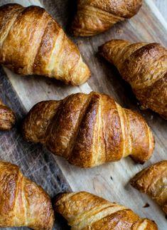 Flaky Sourdough Croissants - Home Grown Happiness Sourdough Starter Discard Recipe, Sourdough Recipes, Sourdough Bread, Bread Recipes, Croissant Recipe, Dough Ingredients, Best Cookbooks, Cooking Chocolate, Amigurumi