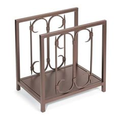 Iron Gate Indoor Firewood Rack - Burnished Bronze #LearnShopEnjoy