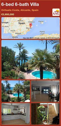 Villa for Sale in Orihuela Costa, Alicante, Spain with 6 bedrooms, 6 bathrooms - A Spanish Life Murcia, Valencia, Alicante Spain, Turkish Bath, Luxury Villa, Cabo, Palm Trees, Costa, Terrace