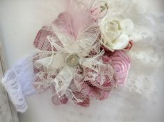 Vintage Baby Girl Rosettes Headband Satin by ButterflyFaithBoutiq, $10.95