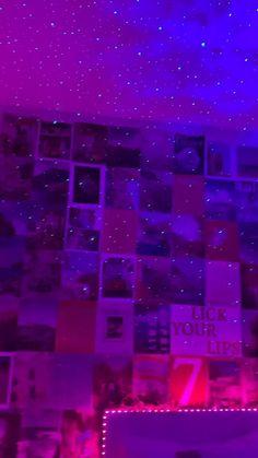 Neon Bedroom, Cute Bedroom Decor, Teen Room Decor, Room Ideas Bedroom, Chill Room, Cozy Room, Indie Room, Aesthetic Room Decor, Dream Rooms