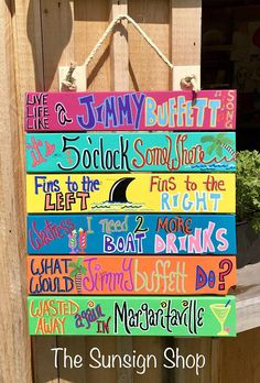 Live Life Like a Jimmy Buffett Song Sign / Outdoor Bar Sign / It's 5 o'clock Somewhere Sign / Margaritaville Sign / Key West Sign / Drinking - ILOhio Indian Lake - Re-Wilding Pool Signs, Beach Signs, Pool Rules Sign, Tiki Bar Signs, Outdoor Signs, Indoor Outdoor, Outdoor Bars, Outdoor Living, Outdoor Decor