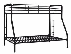 Home Products Twin-Over-Full Bunk Bed, Black cheap used bunk beds for sale