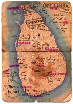 10 The Ultimate Week Sri Lanka Ideas Collage Vintage, Vintage Maps, Antique Maps, Laos, Le Sri Lanka, Inter Rail, Download Digital, Travel Illustration, Digital Collage
