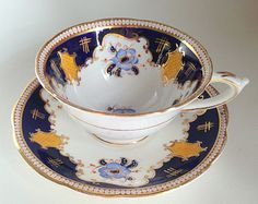 Wild Rose German Tea Cup and Saucer Schumann by AprilsLuxuries